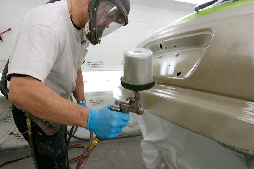 Reducing VOC emissions from auto body repair shops
