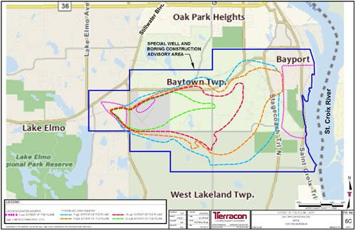 Map of Baytown Township Groundwater Contamination Site
