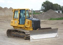 Bulldozer at construction site