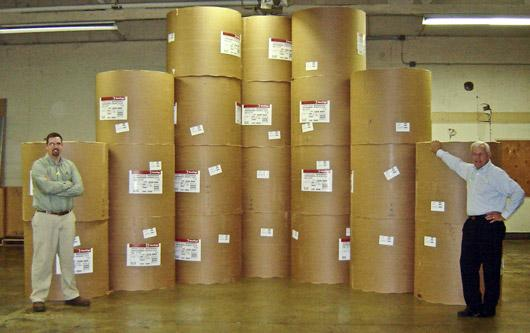 Clear Lake Printing saving paper - with big paper rolls