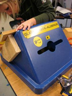 Olmsted County Educational Institution recycling bin