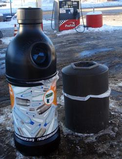 Bottle recycling container provided by WLSSD to encourage recycling