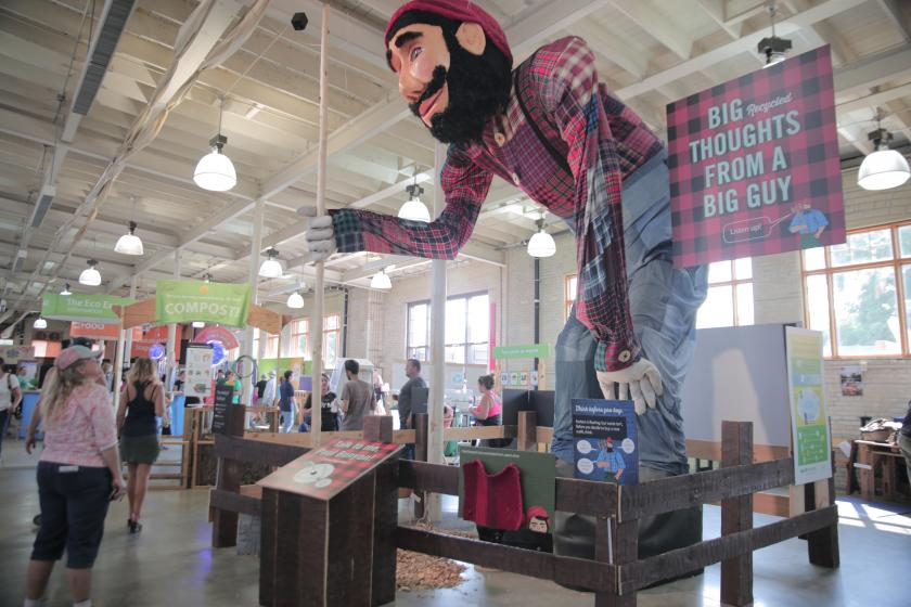 Paul Bunyan at the 2017 Eco Experience