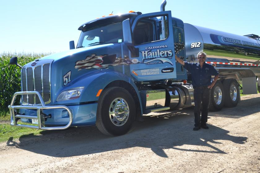 Caledonia Haulers got a Clean Diesel grant to help purchase this new class 8 truck,