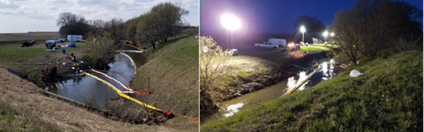 Night and day: Photos of an oil spill cleanup in Lyon County