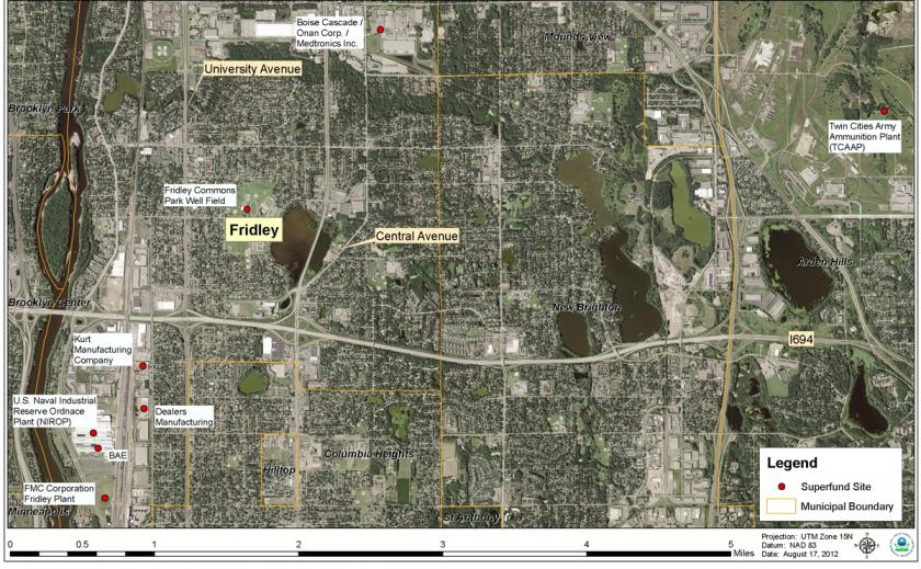 Fridley Air Quality And Superfund Sites Minnesota