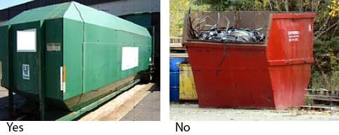 Examples of material storage containers