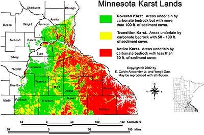 Figure 4. Minnesota Karst Lands