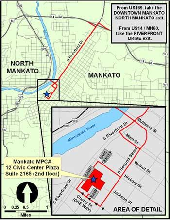 Map to Mankato Office