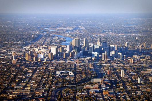minneapolis aerial photo