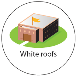 White or light-colored roofs