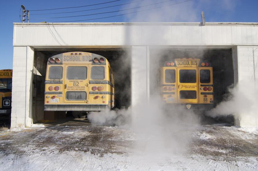 Diesel school bus exhaust is unhealthy.