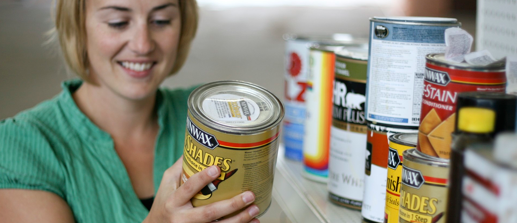 Examples of household hazardous waste materials, including paint and varnish