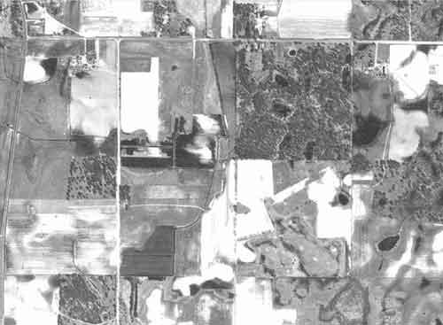 1947 image of ditch near Lino Lakes, MN