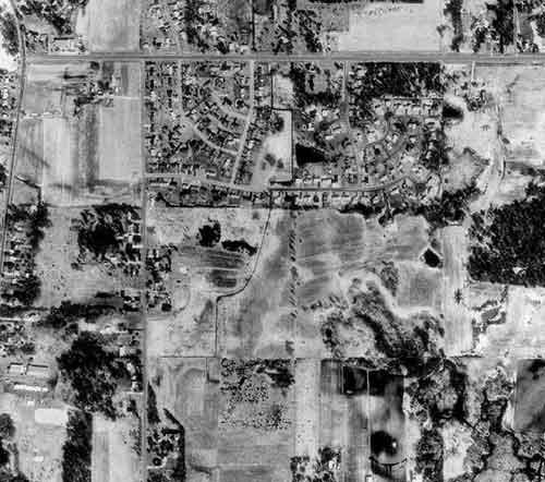 1991 image of ditch near Lino Lakes, MN