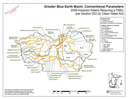 Map of Greater Blue Earth River Basin