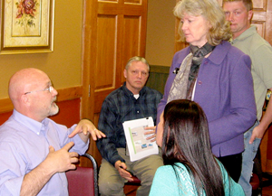 Watershed Professionals Network meetings generate dialog and discussion.