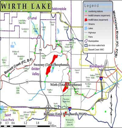 Map of Wirth Lake