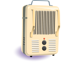 Illustration of a space heater
