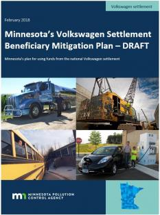 Cover of report on Minnesota's VW settlement beneficiary mitigation plan draft
