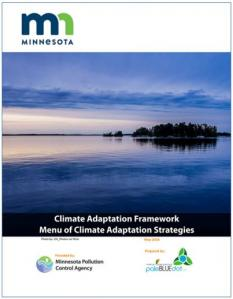 Cover of climate adapation framework report
