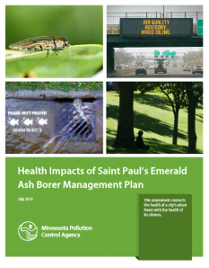 Cover: Health impacts of Saint Paul's emerald ash borer management plan