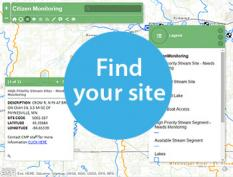 Link to a application to pick a monitoring site