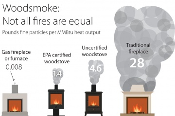 Wood stove comparisons - best option is newer, natural gas