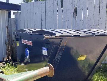 Otter Tail County's cardboard dumpster