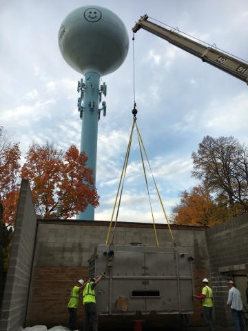Picture of Spring Park air stripper installation
