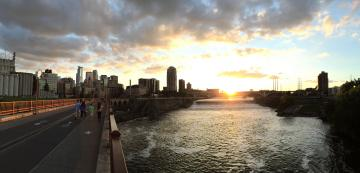 View of Minneapolis on th Mississippi River