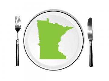 Illustration of Minnesota on a dinner plate