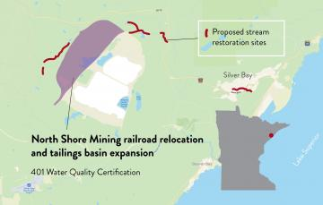 Northshore Mining railroad relocation and tailings basin expansion
