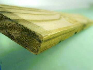 Picture of treated lumber