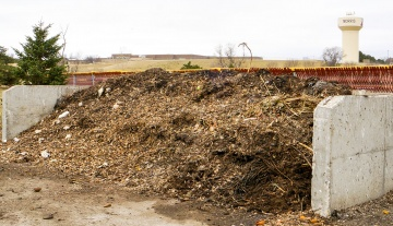 Compost pile at U of M Morris
