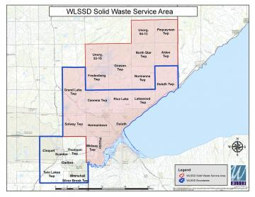 Map of WLSSD hauler reporting area