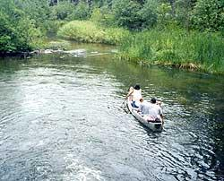 Canoers on a river