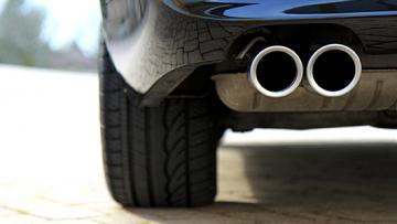 Vehicle tail pipe for exhaust