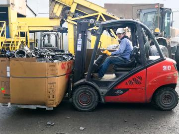 Spectro Alloys replaced 2 diesel forklifts and reduced air pollution.