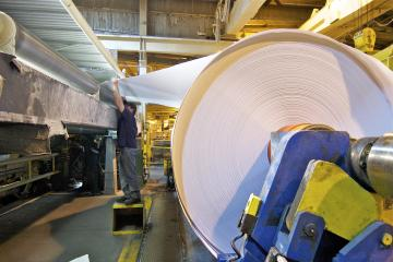 Secondary materials and industrial by-products include paper rolls