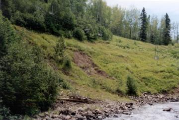 Hill erosion on Poplar River