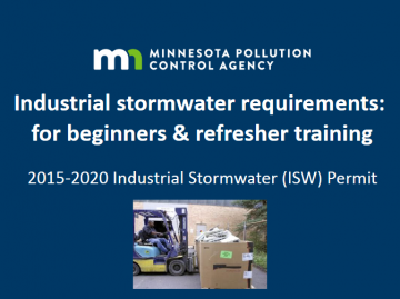 Online training module on requirements of industrial stormwater