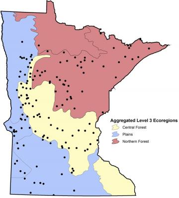 National Lakes Assessment Project NLAP Minnesota Pollution - Minnesota on a us map