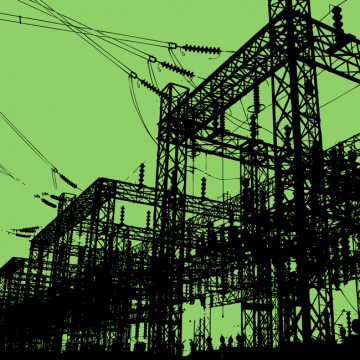 illustration of electrical substation