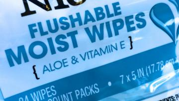 Wipes package label